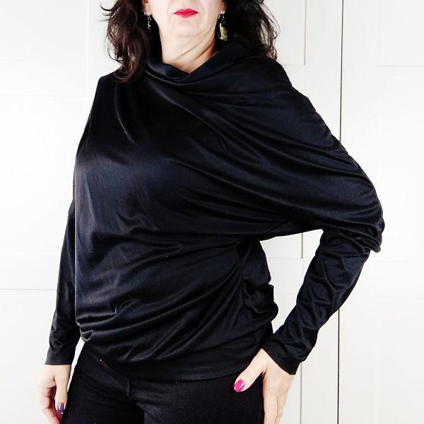 Patron camiseta asimétrica de mujer en talla grande la costurera inquieta