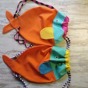 cómo coser una mochila pez