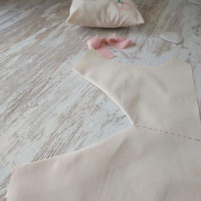 como coser un escote en pico la costurera inquieta