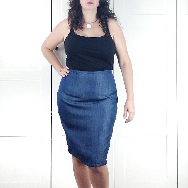 como coser una falda lápiz de talla grande la costurera inquieta