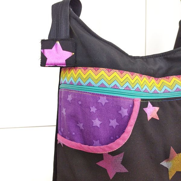 detalle de patrón de bolso de mujer