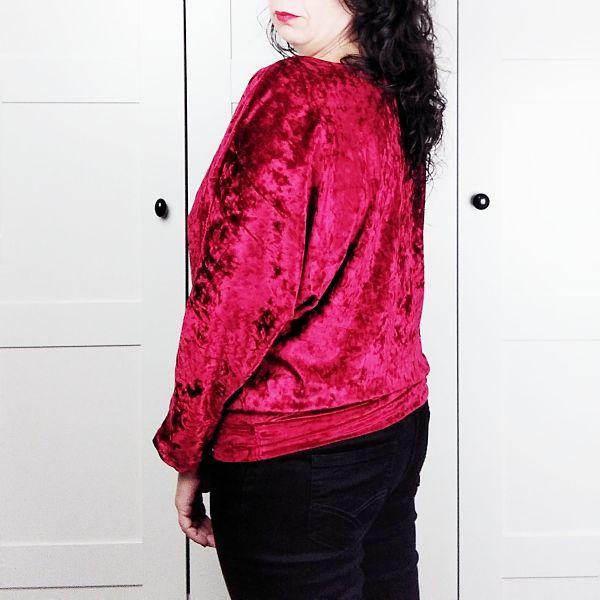 espalda jersey talla grande mujer