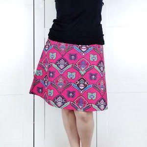 falda evase para mujer patrón talla grande la costurera inquieta