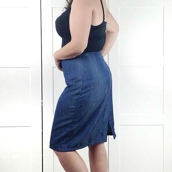 falda lapiz talla grande