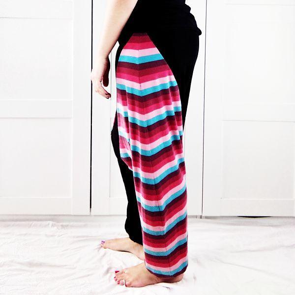 pantalón sarouel de mujer detalle