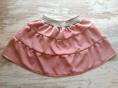 patrón para coser una falda de volantes de niña