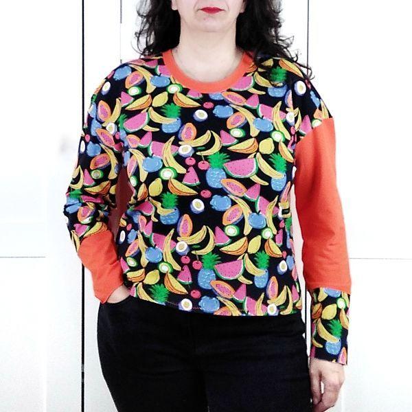 patrón camiseta manga larga en talla grande la costurera inquieta
