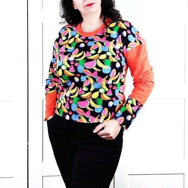 patrón camiseta manga larga para mujer de talla grande la costurera inquieta