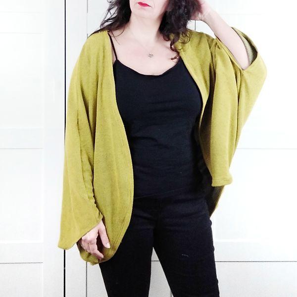 patron chaqueta mujer de talla grande