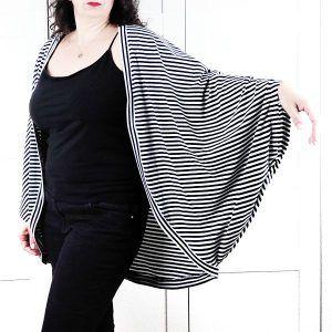 patrón cárdigan cocoon talla grande la costurera inquieta