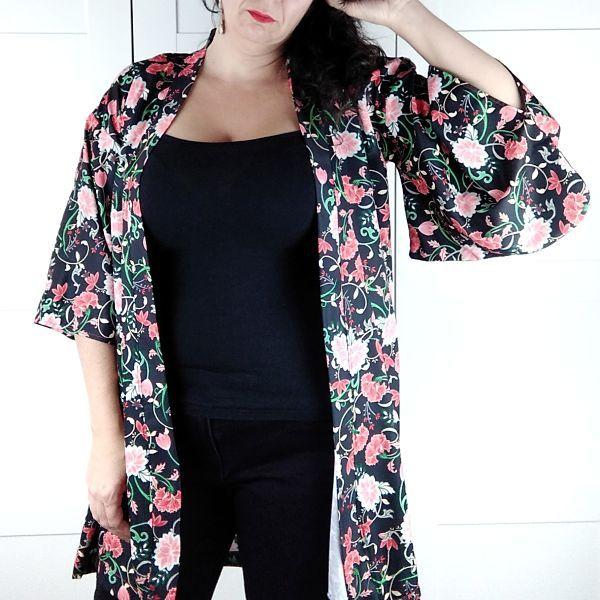 patrón de kimono en talla grande