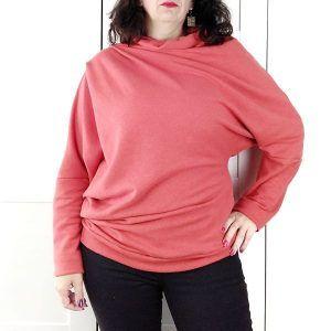 patrón de sudadera asimétrica para mujer