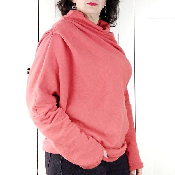 patron de sudadera asimétrica para mujer en talla grande la costurera inquieta