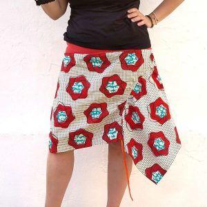 patrón falda asimetrica