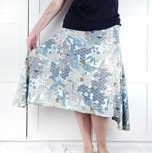 patron falda asimetrica para talla grande la costurera inquieta