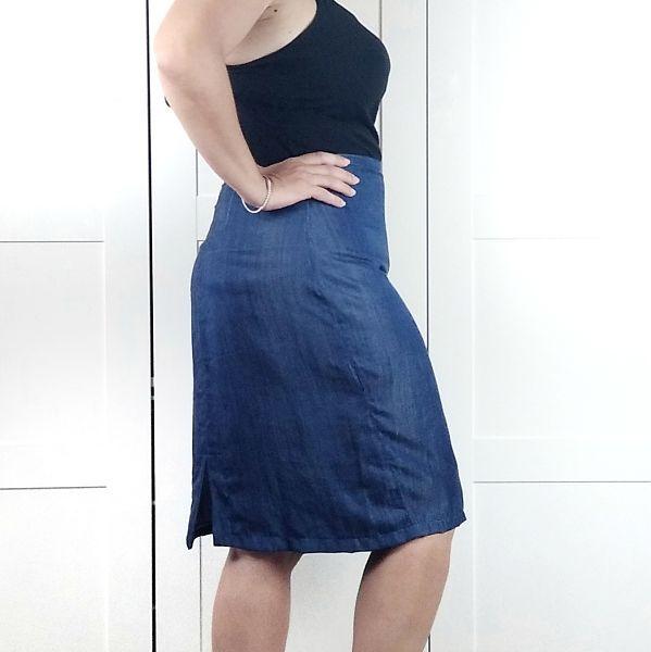 patrón falda lápiz talla grande la costurera inquieta