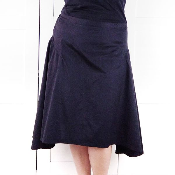 patron falda asimetrica patron talla grande la costurera inquieta