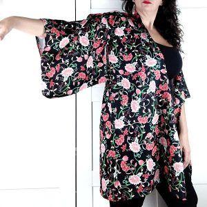patron kimono de talla grande para mujer