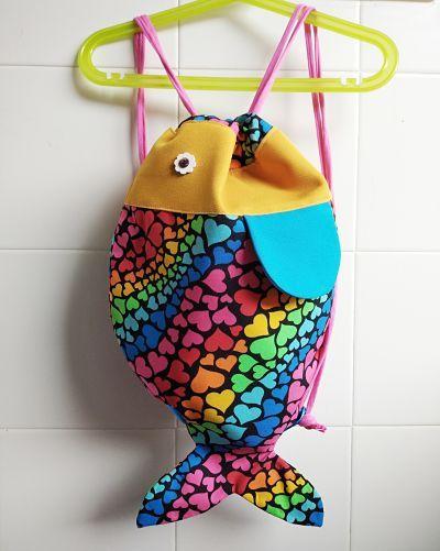tutorial de mochila pez infantil